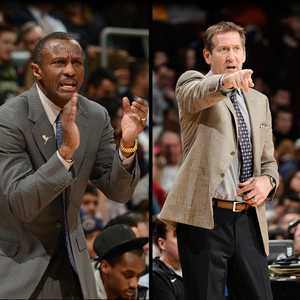 Dwane Casey Jeff Hornacek December Coaches of the Month