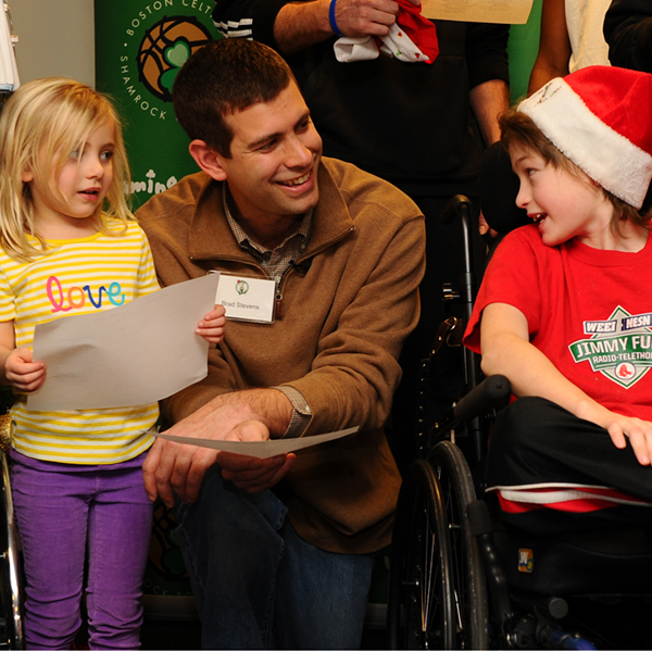Boston Celtics Children's Hospital Visit