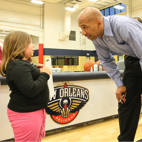 New Orleans Pelicans Monty Williams St. Jude