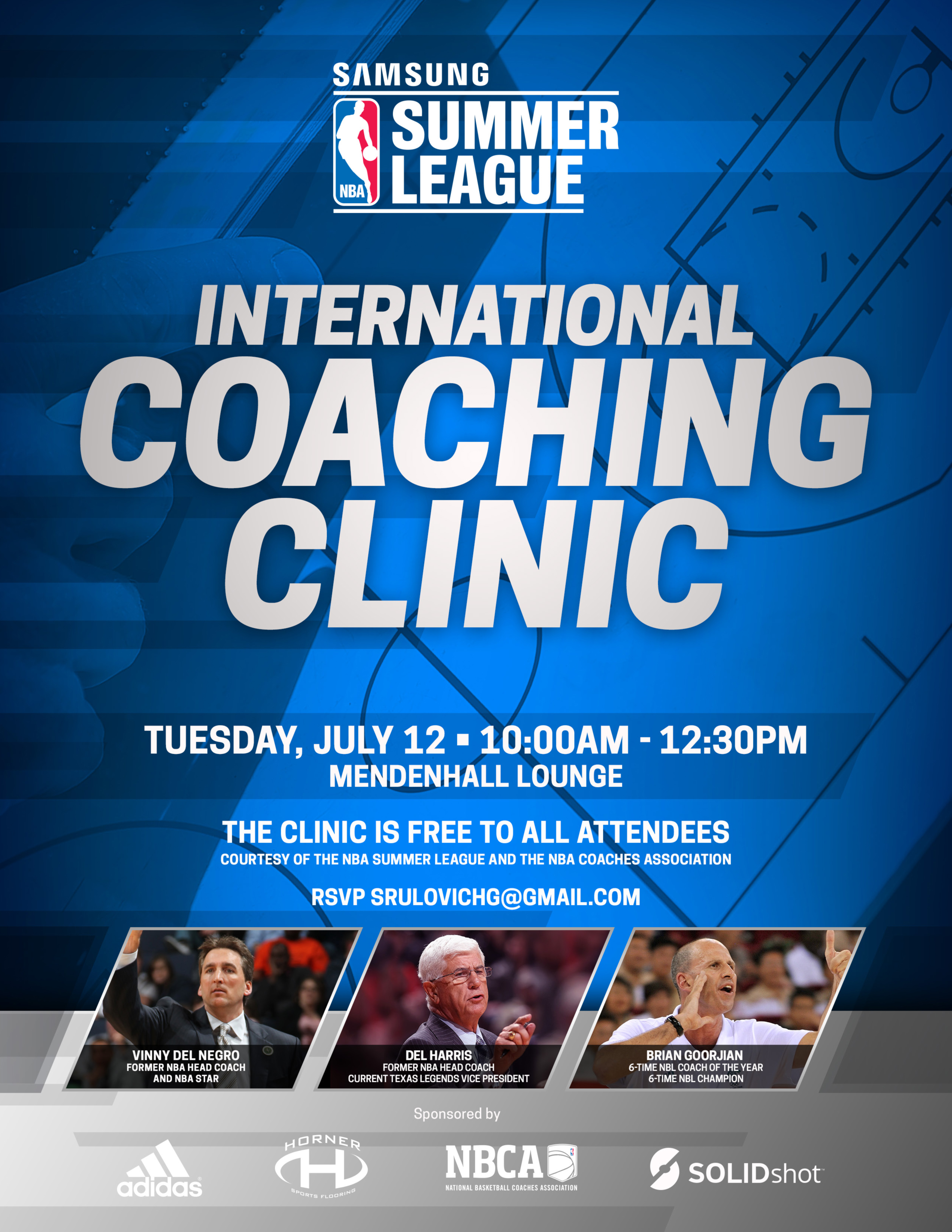 NBASL16 International Coaching Clinic Invite