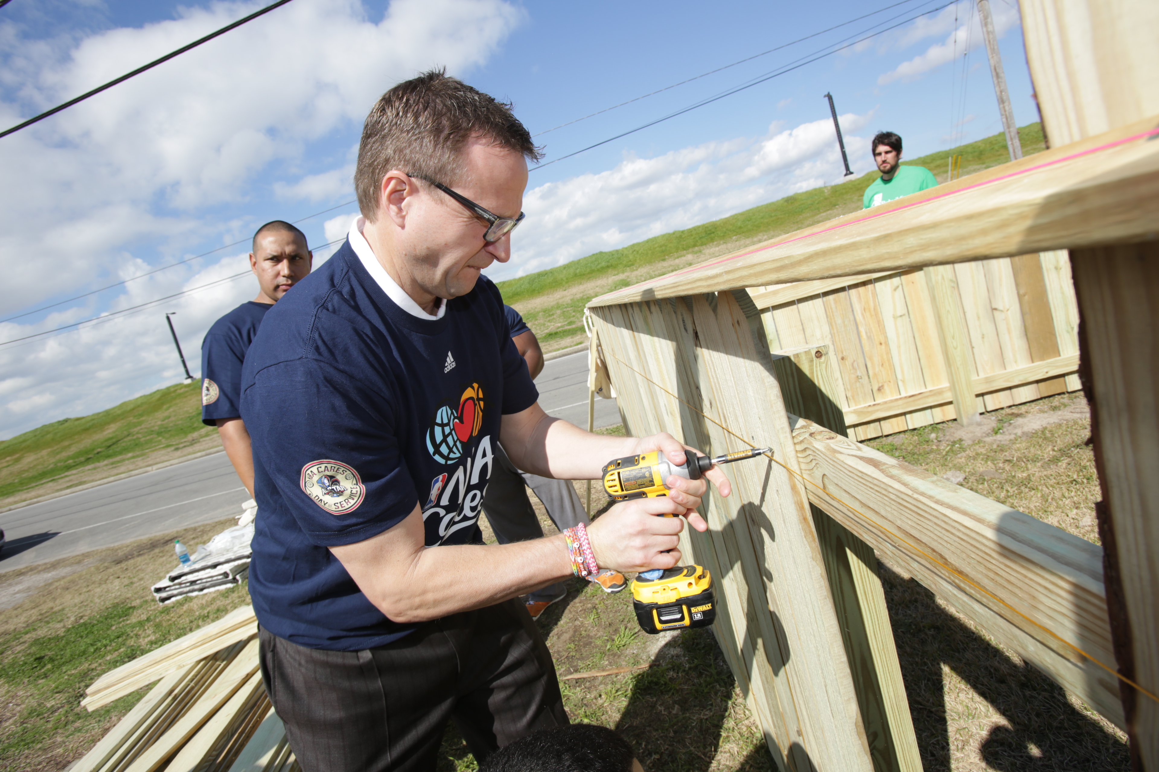 Oklahoma City Thunder Head Coach Scott Brooks- All-Star Community Day of Service