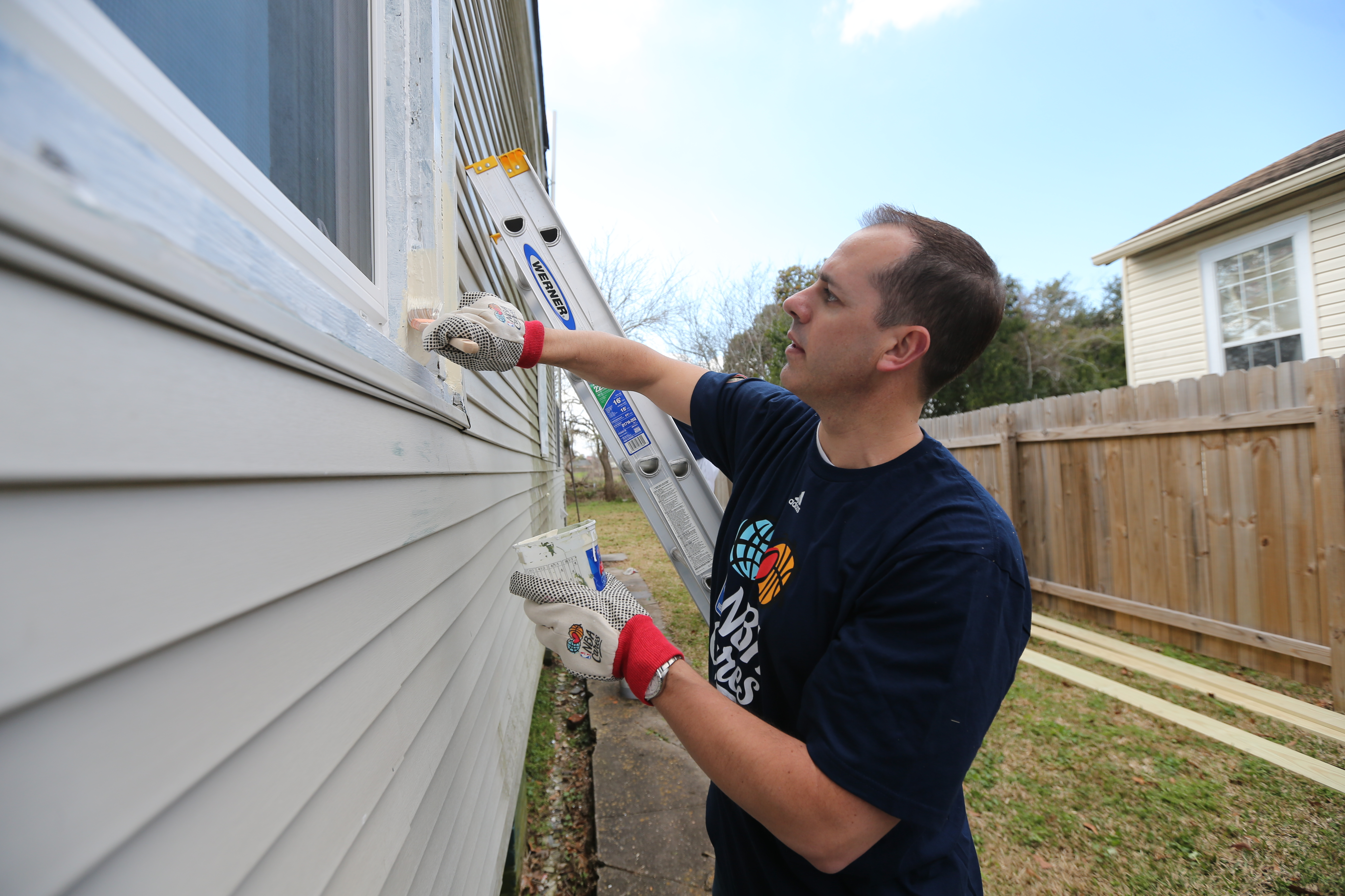 Indiana Pacer Head Coach Frank Vogel- All-Star Community Day of Service