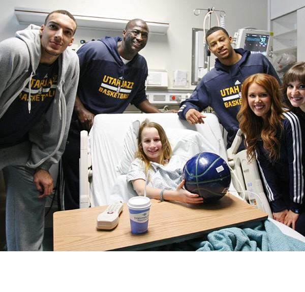 Utah Jazz visit local Hospitals