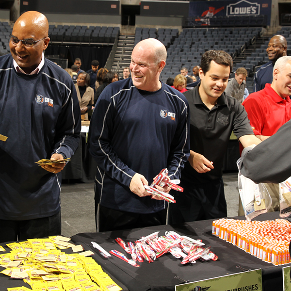 Charlotte Bobcats Military Cares Event