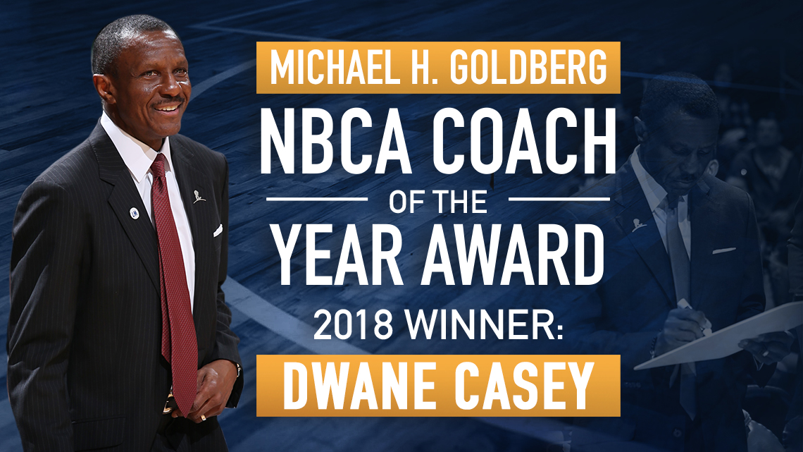 Dwane Casey 2018 MHG Award
