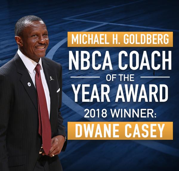 Dwane Casey Michael Goldberg NBCA Coach of the Year Award