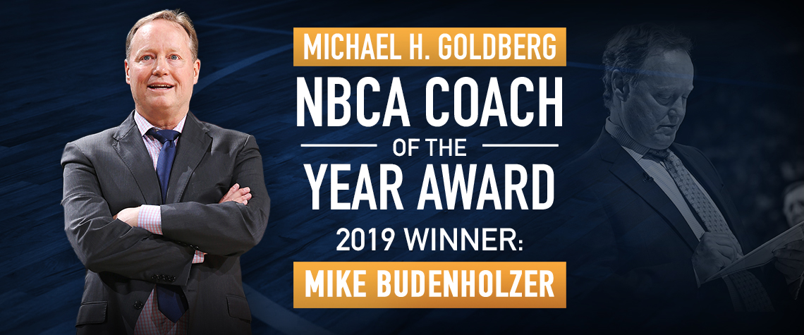 Mike Budenholzer Michael H. Goldberg NBCA Coach of the Year